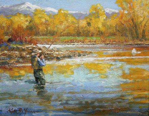 fly fishing oil paintings images