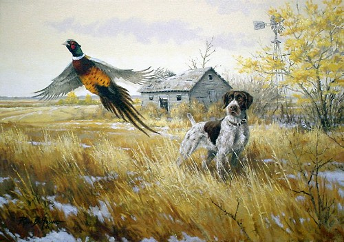Oil Paintings Of Hunting Dogs
